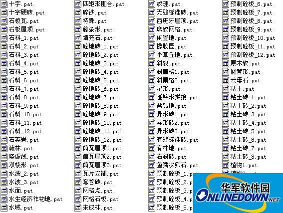 AutoCAD填充圖案大全(835款)