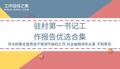 【最新】驻村第一书记工作报告优选合集