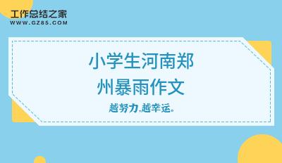 小学生河南郑州暴雨作文(精选4篇)